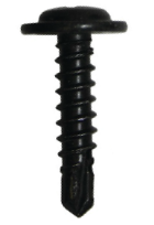 Zelf borende schroeven zwart verzinkt