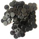 Afdekkapjes zwart voor kozijnschroeven torx 30  - 100 stuks