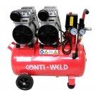 Conti-Weld olievrije geluidsarme compressor LBWF 25 liter 8 bar 4 cilinder