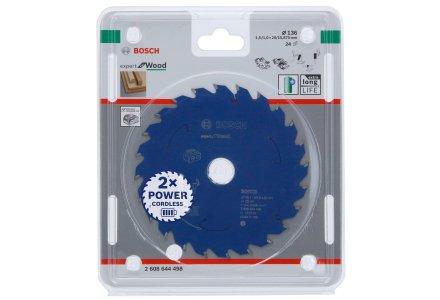 Bosch cirkelzaagblad voor accuzagen 136x20x24 T Expert for Wood