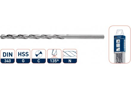 HSS-G Spiraalboren splitpoint, lang 10,5 mm