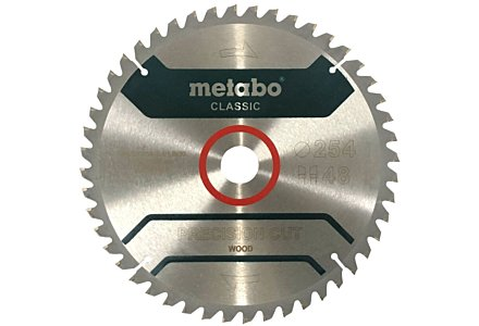 Metabo precision cut classic cirkelzaagblad 254x30x48