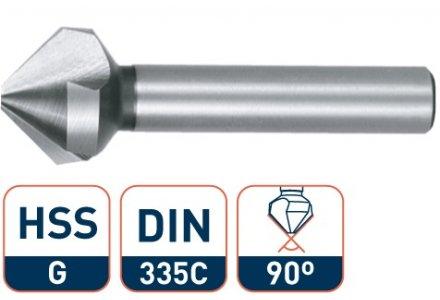 Rotec HSS verzinkfrees 20,5mm 90° met 3 snijkanten