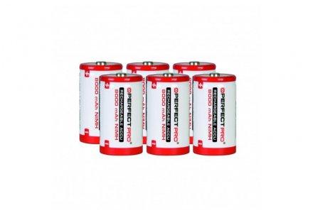 Perfectpro oplaadbare batterijen D 6 stuks (8000mAh)