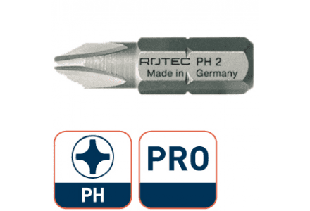 Pro bit 25mm PH 1 Rotec