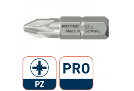 Pro bit 25mm PZ 1 Rotec