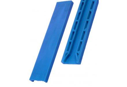 Tunnel beglazingsblokjes blauw 100x30x2mm - 100 stuks