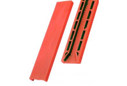 Tunnel beglazingsblokjes rood 100x30x3mm - 100 stuks