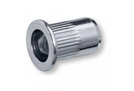 Blindklinkmoeren M5 ALU klembereik 0,5 - 3,0 mm. 250 stuks