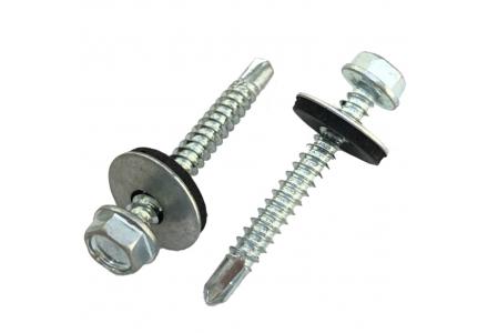 Zelfborende schroeven met EPDM ring verzinkt 4,8x16 - 200 stuks