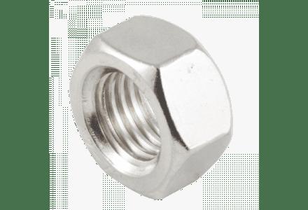 Moeren RVS A2 DIN 934, M4 / 100 stuks