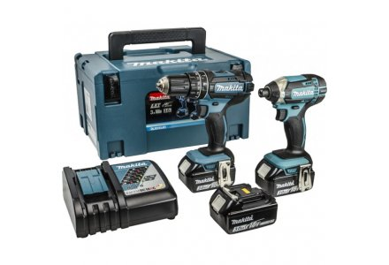 Makita DLX2131JX1 18V 3x 3.0Ah Li-ion Combiset in systainer