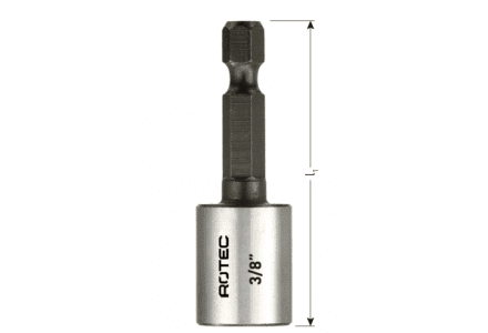 Rotec dopsleutel bit 8mm magnetisch