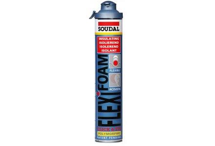 Soudal Flexifoam Click & Fix blauw 12x750ml