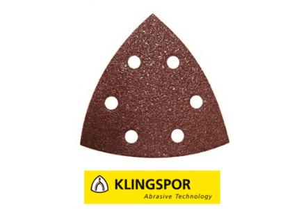 Klingspor driehoekschuurpapier GLS15 PS22K korrel 80 - 50 stuks