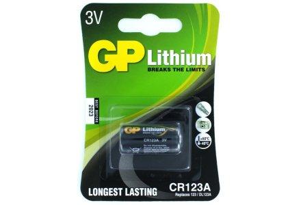 GP CR123A Lithium batterij 3V