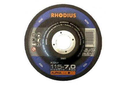 Rhodius afbraamschijf KSM 115x7mm.