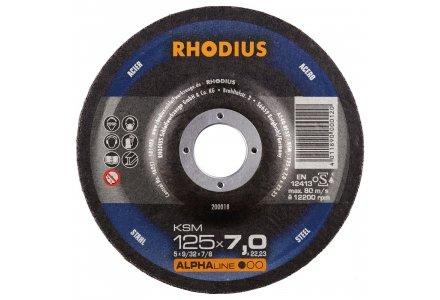 Rhodius afbraamschijf KSM 125x7mm.