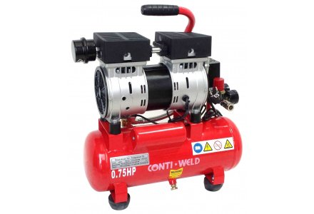 Conti-Weld olievrije geluidsarme compressor LBWH 9 liter 8 bar