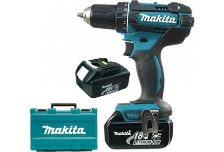 Makita DDF482 accuboormachine 2x 18 Volt 3.0Ah 36/62Nm