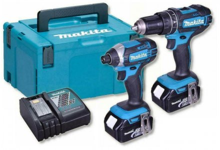 Makita combiset 18V 3x 5.0Ah in systainer