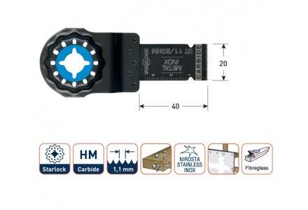 Multizaagblad Starlock metaal/inox (RVS) 20 mm