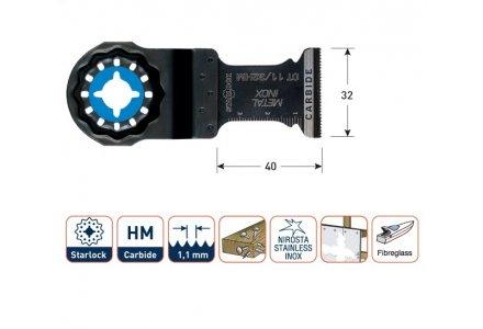 Multizaagblad Starlock metaal/inox (RVS) 32 mm