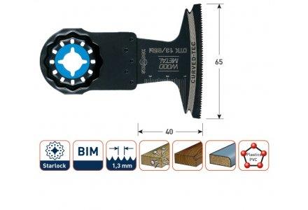Multizaagblad Starlock hout/metaal 65 mm curved