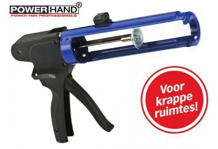 Powerhand kitpistool / kitspuit, voor krappe ruimtes