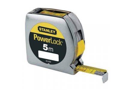 Rolbandmaat Stanley PowerLock met boveninkijk 5 meter