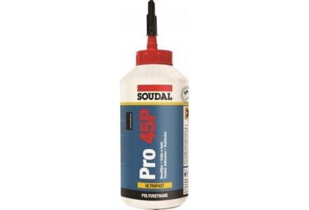 Soudal PRO 45 P - Watervaste PU Houtlijm snel 750ml