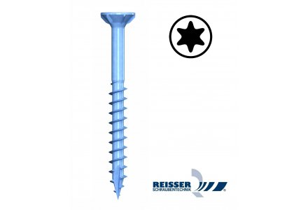 Reisser R2 plus 6x200 torx spaanplaatschroeven deeldraad 100 stuks
