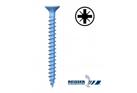 Reisser R2 3,5x25 spaanplaatschroeven pozidrive voldraad 1000 stuks