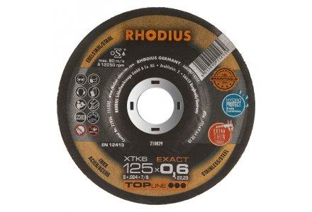 Rhodius XTK6 extra dunne doorslijpschijf 125x0,6x22,23 staal