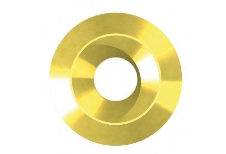 Massieve rozetten 8,5x28x5 geel verzinkt 50 stuks