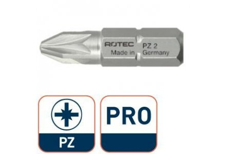 Rotec Pro bit 25mm PZ2