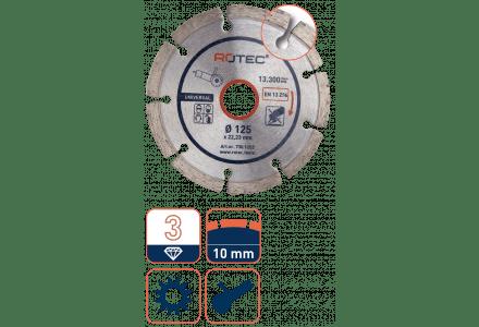 Rotec diamantzaag universeel - 115mm