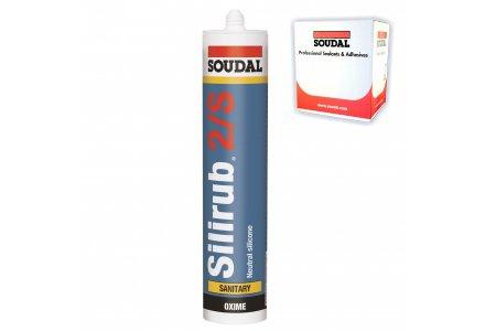 Soudal Silirub 2/S neutrale siliconenkit 300ml transparant-grijs - 15 stuks