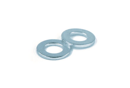 Sluitring M20 DIN 125 Galvanisch verzinkt - 100 stuks