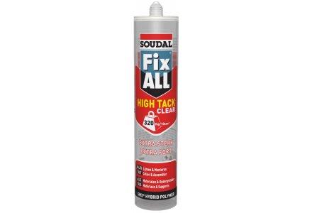 Fix All High Tack Clear transparante lijmkit van Soudal