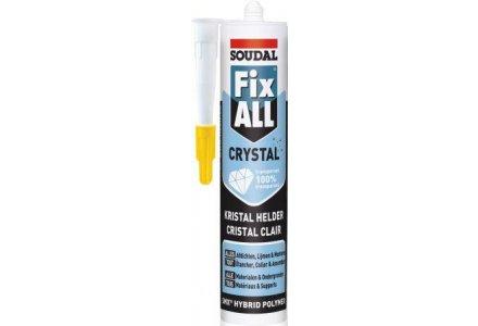 Soudal Fix all Crystal (100% transparant) 12 stuks