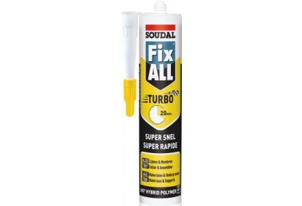 Soudal Fix all Turbo - zwart 290ml