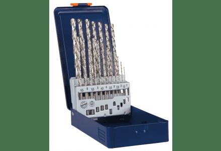 Rotec 19 delige spiraalborenset HSS-G in metalen koffer