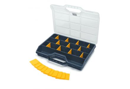 Tayg assortimentskoffer met 21 verstelbare vakken