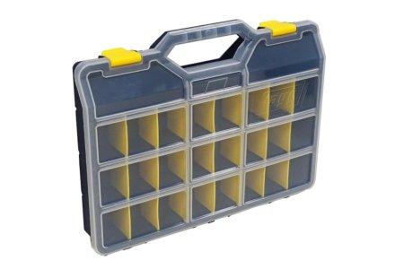 Tayg assortimentskoffer met 21 verstelbare vakken (378x290x61)