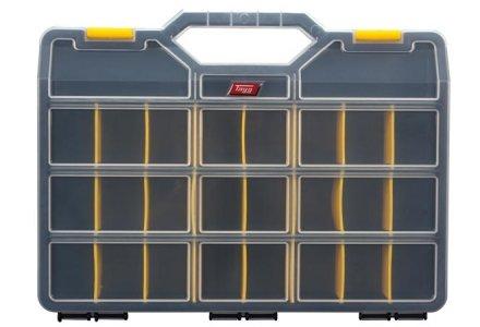 Tayg assortimentskoffer met 21 verstelbare vakken (460x350x81)