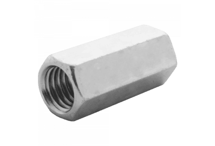 Verlengmoeren DIN 6334 M6 galv. verzinkt 100 stuks