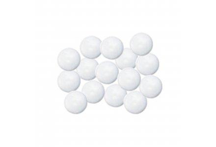 Afdekkapjes met steel (12 mm doorsnee) wit 100 stuks