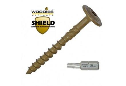 Woodies Shield tellerkopschroeven 6x100 100 stuks
