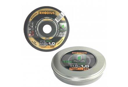 Rhodius XT15 accu box doorslijpschijven voor accu slijpers 125x1mm